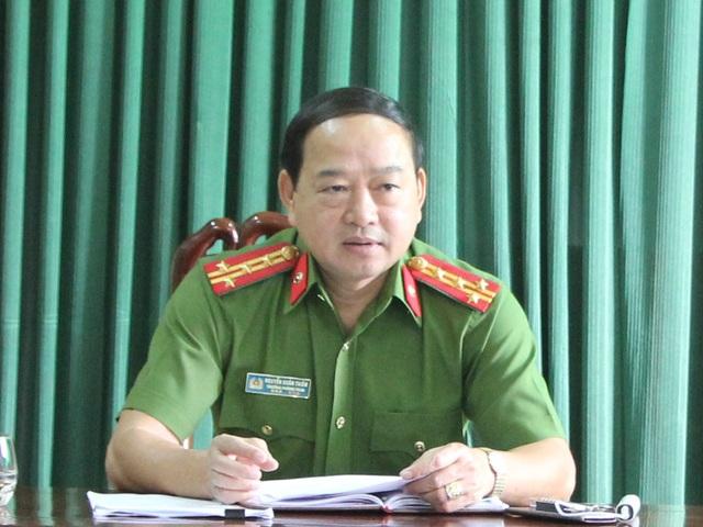 Đại tá Nguyễn Xuân Thiêm - Trưởng phòng cảnh sát điều tra tội phạm về kinh tế và chức vụ Công an tỉnh Nghệ An thông tin về vụ án.