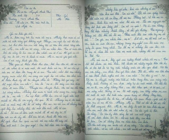 Bức thư được viết với văn phong mộc mạc, ngôn từ giàu cảm xúc, thấm đẫm tình yêu thương, mong nhớ của cô học trò mồ côi dành cho người mẹ đã khuất của mình.