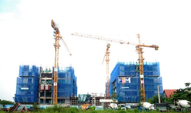 Công trình dự án đã xây đến tầng 10