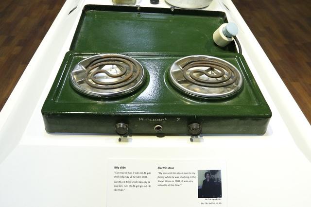 Chiếc bếp điện được sử dụng trong gia đình bà Làn (Đào Tấn, Ba Đình, Hà Nội) vào năm 1988