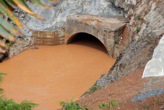 Cống dẫn dòng thủy điện Sông Bung 2 trước khi bị sự cố