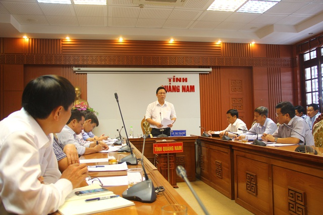 Lãnh đạo tỉnh Quảng Nam họp với các chủ hồ chứa về công tác vận hành liên hồ chứa trong mùa lũ