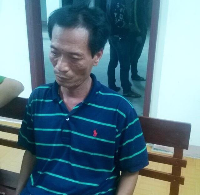 Đối tượng Nguyễn Xuân Thắng tại cơ quan công an