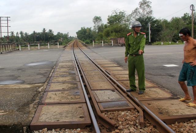 Khu vực đường sắt gần nơi xảy ra vụ việc