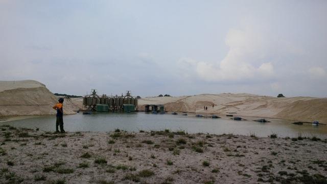 Diện tích đất người dân phát hiện Công ty Hiếu Giang khai thác trái phép