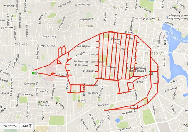 Chiêm ngưỡng những bức tranh độc đáo được vẽ bằng GPS trong lúc đạp xe - 11