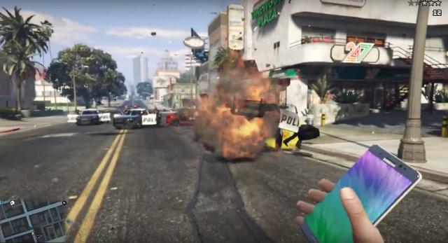 Note7 bị game thủ lấy làm bom trong trò chơi GTA V