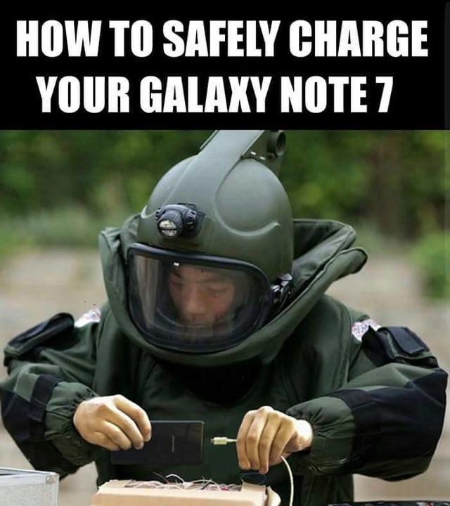 Để sạc pin cho Note7 một cách an toàn