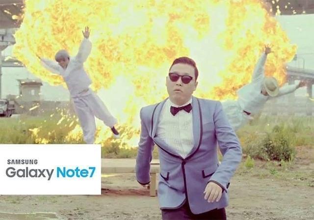Một cảnh nổ trong MV Gangnam Style nổi tiếng của PSY