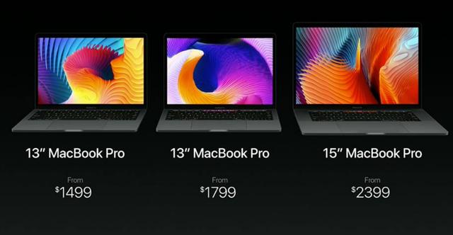 Giá khởi điểm của 3 loại MacBook Pro 2016 cơ bản