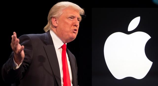 Ông Trump từng có nhiều tuyên bố không có lợi nhắm vào Apple