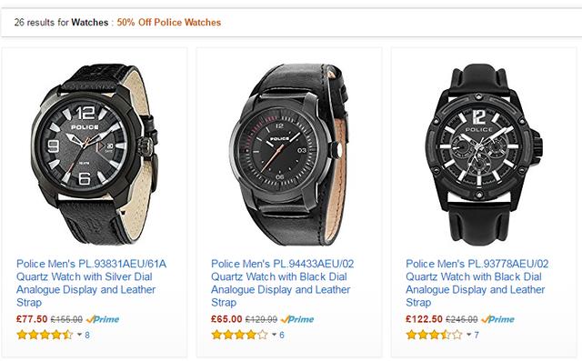 Giảm giá 50% cho nhiều model Police Watches trên hệ thống Amazon