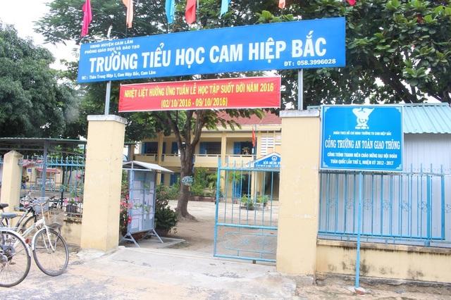 Trường tiểu học Cam Hiệp Bắc (xã Cam Hiệp Bắc, huyện Cam Lâm, Khánh Hòa)