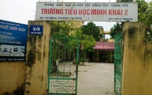 Trường Tiểu học Minh Khai 2, thành phố Thanh Hóa có nhiều khoản thu trái quy định đã được Phòng GD-ĐT chỉ ra.