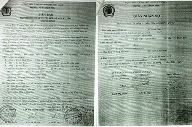 Các bộ hồ sơ giả đều có đầy đủ chữ ký của Chủ tịch HĐQT, Giám đốc, Kế toán trưởng…