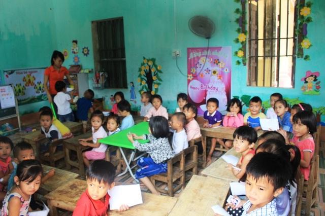 Điểm lẻ của trường Mầm non xã Hải Thượng, huyện Tĩnh Gia thiếu thốn về cơ sở vật chất