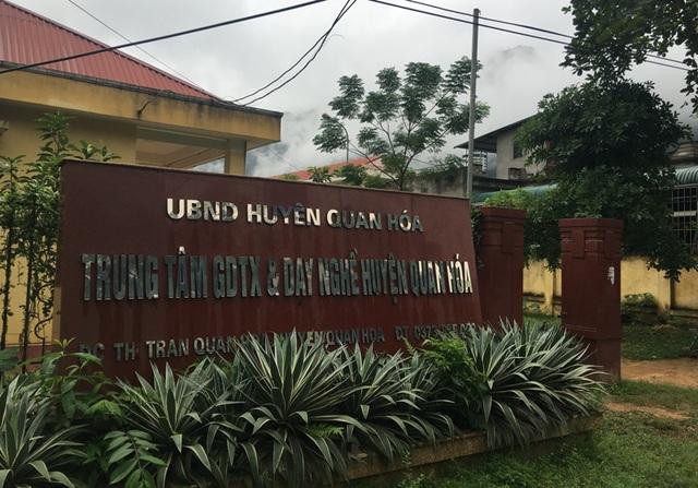 Trung tâm GDTX&DN huyện Quan Hóa