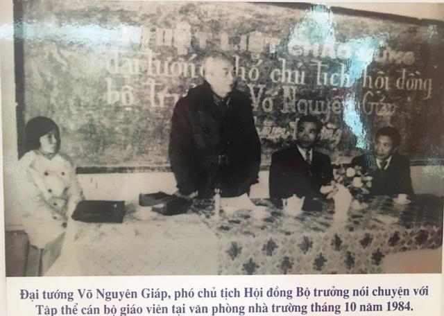 Nhà trường từng vinh dự đón Đại tướng Võ Nguyên Giáp về thăm