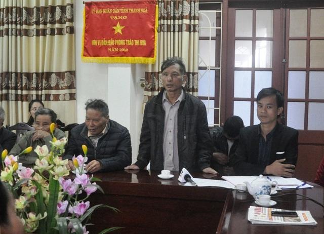 Các hộ dân nêu ý kiến tại buổi đối thoại