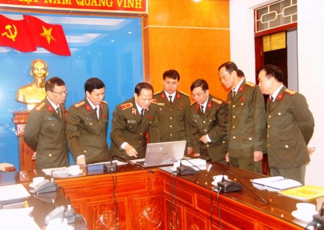 Thiếu tướng Trịnh Xuyên - Giám đốc Công an tỉnh Thanh Hóa trực tiếp chỉ đạo điều tra phá án. (Ảnh: P.V)