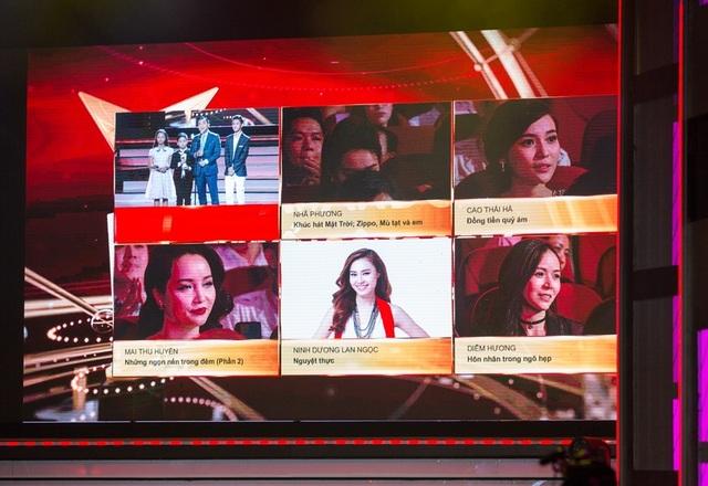 Là cái tên có mặt trong top 5 của hạng mục Nữ diễn viên ấn tượng cùng Nhã Phương, Mai Thu Huyền, Ninh Dương Lan Ngọc, Diệu Hương, diễn viên Cao Thái Hà là cái tên gây chú ý đặc biệt.