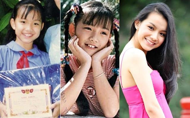 Hoa hậu Thùy Lâm không có nhiều nét khác biệt so với thưở nhỏ, gương mặt cô dịu dàng, thùy mị với những đường nét Á Đông ngay từ nhỏ.