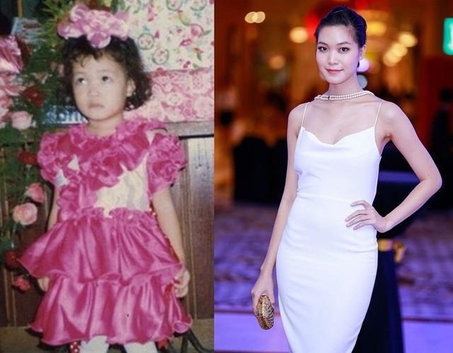 Em bé đáng yêu như cô búp bê với mái tóc xoăn ngắn này chính là Hoa hậu Thùy Dung.