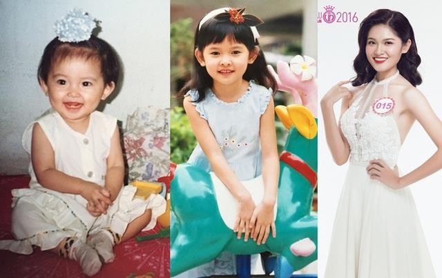 Ngay từ bé, Á hậu 2 Hoa hậu Việt Nam 2016 Thùy Dung đã sở hữu khuôn miệng rộng và nụ cười tươi sáng. Đặc biệt, dễ dàng nhận thấy vóc dáng của Thùy Dung luôn thanh mảnh từ đó đến nay.