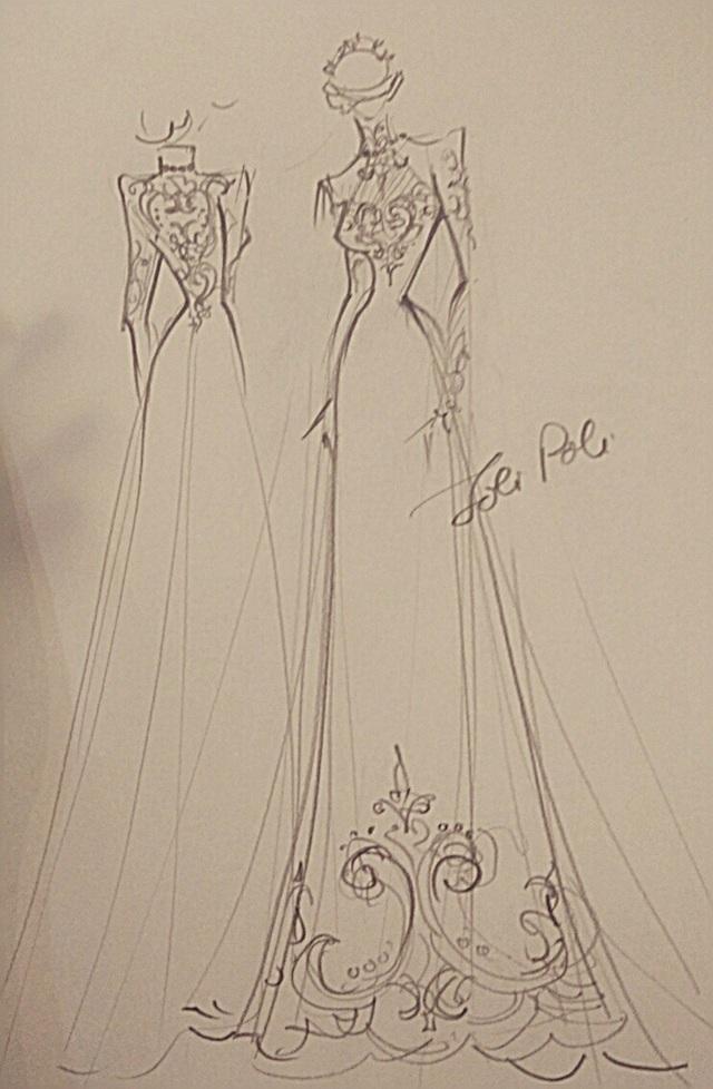 NTK Anh Thư cho biết, bộ áo dài của cặp đôi uyên ương được lên ý tưởng và thực hiện hơn một tháng trước đó.