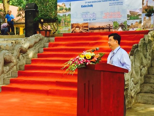 Ông Nguyễn Minh Đức, Tổng Biên tập báo Kinh tế & Đô thị thông tin về triển lãm.