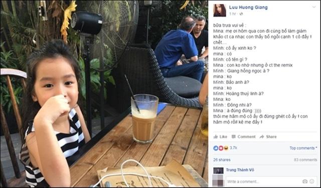 Bé Mina thú nhận với mẹ thần tượng ca sĩ Đông Nhi.