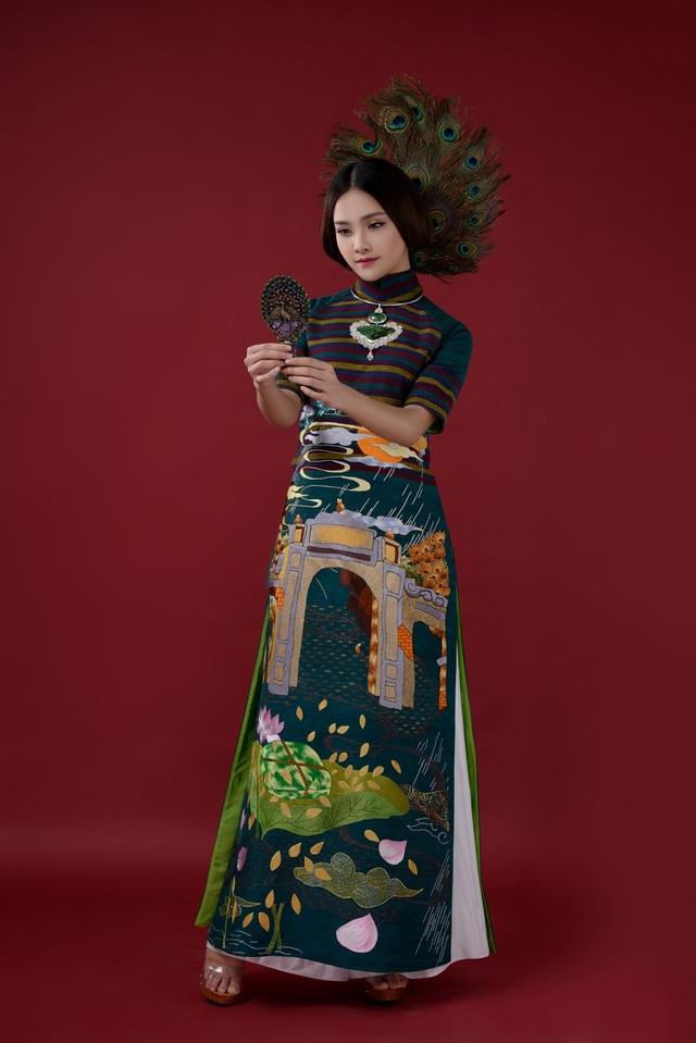 Gương mặt khả ái HHVN Tố Như hóa nàng thơ với áo dài Lan Hương - 13