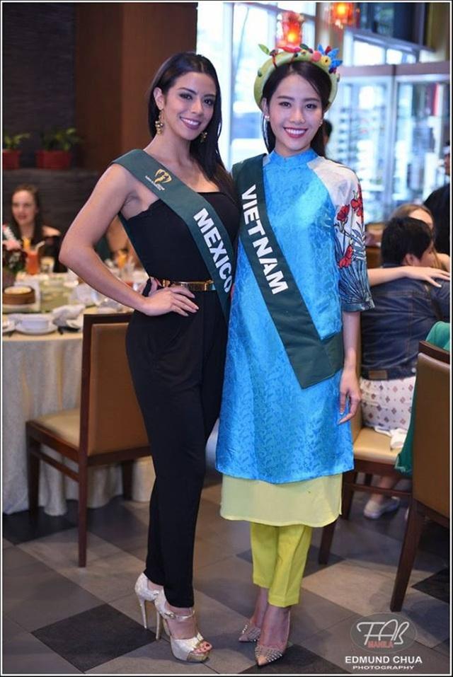 Hiện tại, Nam Em vẫn đang tích cực tham gia các hoạt động của cuộc thi. Ngoài phần thi tài năng, Miss Earth 2016 còn có các phần thi như trình diễn trang phục dạ hội, trình diễn bikibi, trình diễn với trang phục truyền thống trước khi bước vào đêm tranh tài chung kết.