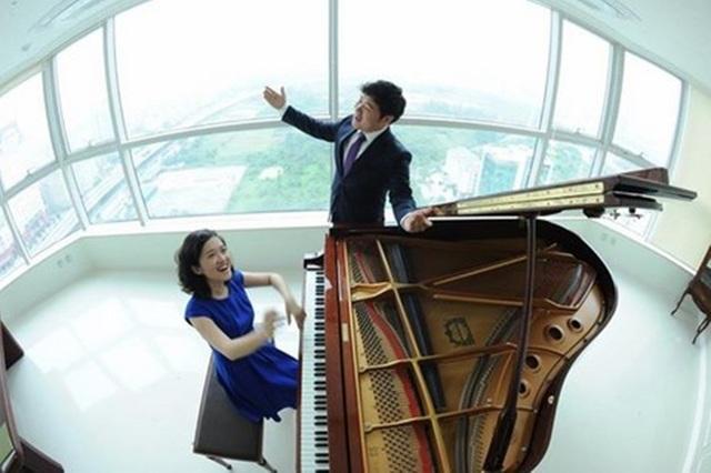 Ngôi sao opera Hàn Quốc Park Sung Min và nghệ sĩ piano Trang Trịnh.