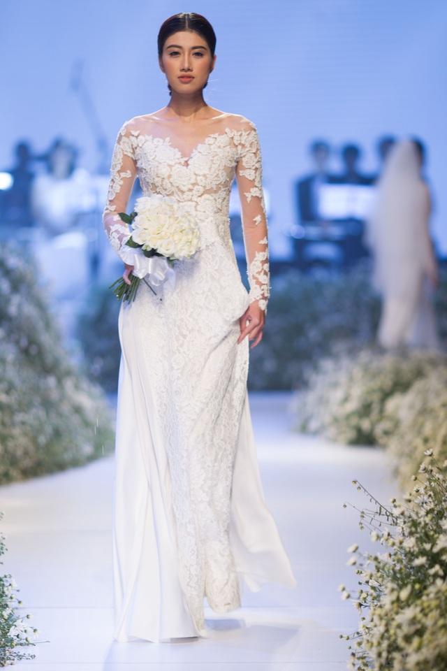 Dàn người đẹp thanh lịch với áo dài cưới tinh khôi - 9