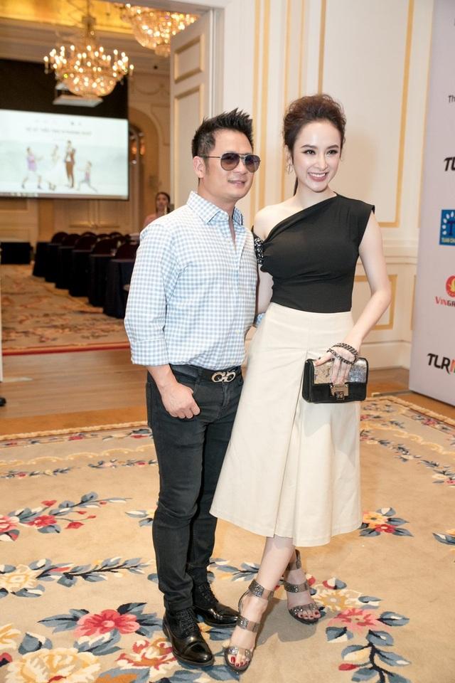 Bằng Kiều và Angela Phương Trinh - nữ diễn viên chính trong phim.