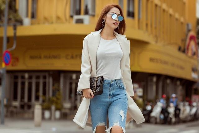 """Hot girl Quỳnh Thy diện style """"chất lừ"""" ra phố ngày se lạnh - 3"""