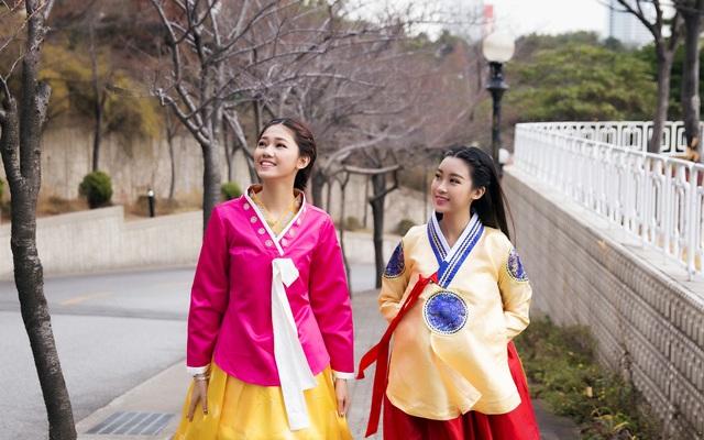 Hoa hậu Mỹ Linh, Á hậu Thanh Tú thăm thành phố cảng Busan - 8