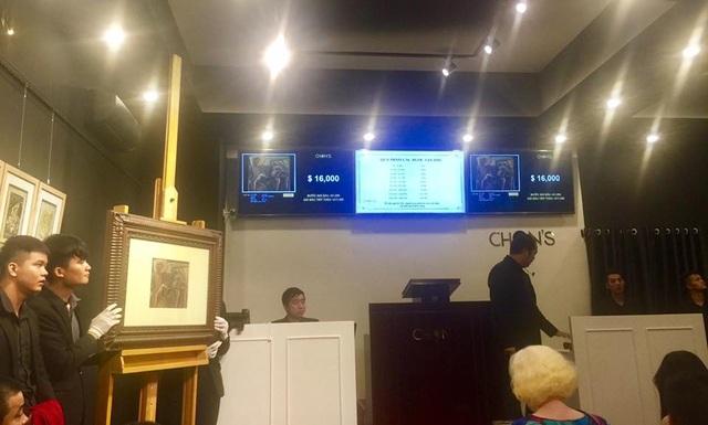 Bức Con giáp của họa sĩ Nguyễn Tư Nghiêm được chốt giá.