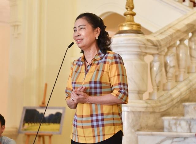 Bà Đặng Thị Bích Liên, Thứ trưởng Bộ Văn hoá, Thể thao và Du lịch, phát biểu trong buổi lễ.