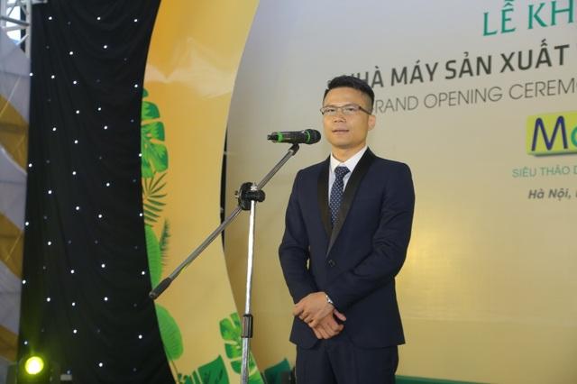 Ông Lê Viết Phương, Tổng Giám đốc Công ty Cổ phần Dược liệu Phương Đông phát biểu tại buổi Lễ.