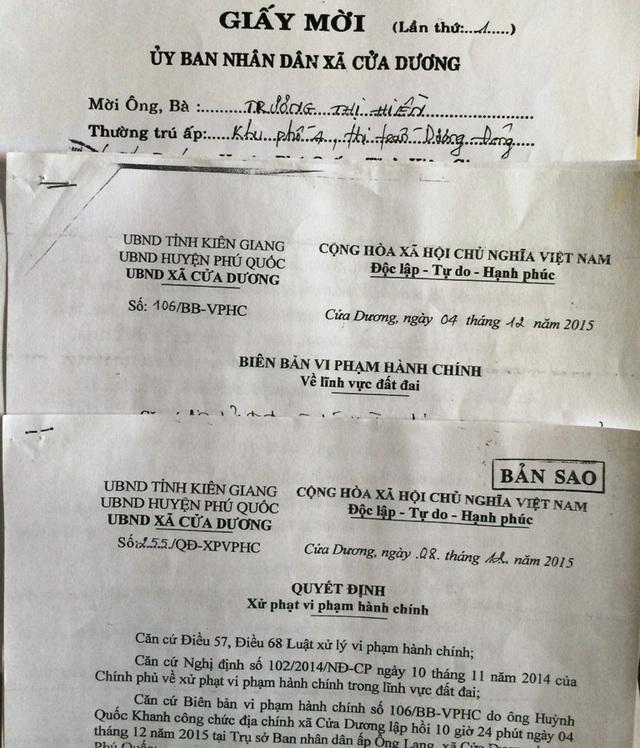 UBND xã Cửa Dương cho biết đã phát hiện bà Trương Thị Hiền xây móng nhà từ năm 2011 nhưng chẳng hiểu sao đến 2015, UBND xã này mới ra quyết định xử phạt hành vi chiếm đất của bà Hiền?