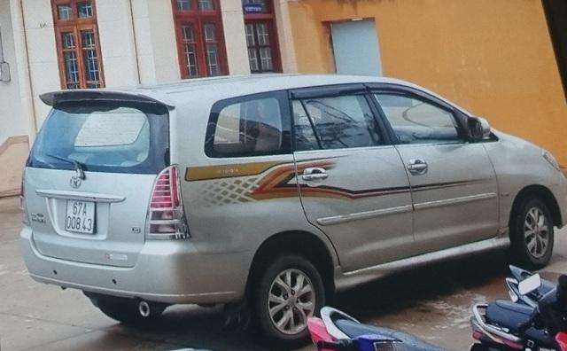 Chiếc xe innova mà Tuấn thuê chị Hải Yến rồi lái sang Campuchia nướng vào sòng bạc