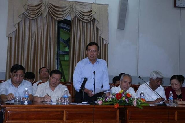 Phó Chủ tịch Uỷ ban Trung ương MTTQ Việt Nam Vũ Trọng Kim phát biểu tại hội nghị.