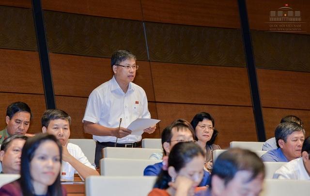 Đại biểu Nguyễn Sỹ Cương phát biểu trong phiên thảo luận (ảnh: Quochoi.vn)