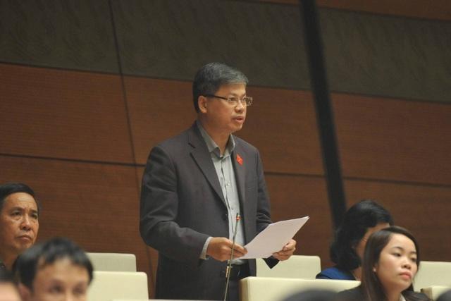 Đại biểu Nguyễn Sỹ Cương phát biểu tại hội trường Quốc hội chiều 2/11 (ảnh: N.T).