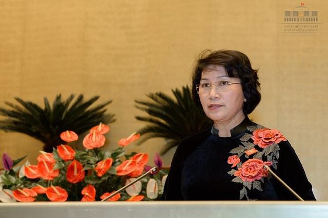 Chủ tịch Quốc hội Nguyễn Thị Kim Ngân khái quát, Quốc hội đã hoàn thành chương trình kỳ họp với tinh thần làm việc nghiêm túc, trách nhiệm.