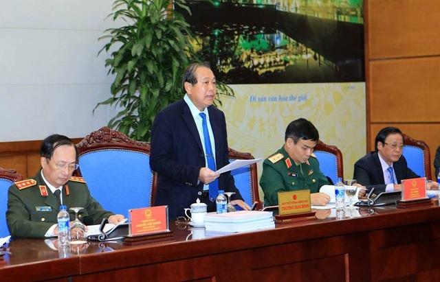 Phó Thủ tướng Trương Hoà Bình chủ trì cuộc họp cả Hội đồng tư vấn đặc xá ngày 27/11.