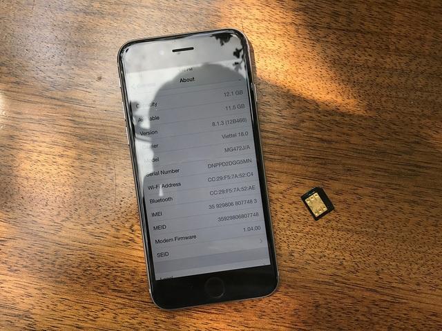 iPhone 6 khóa mạng Nhật và SIM ghép