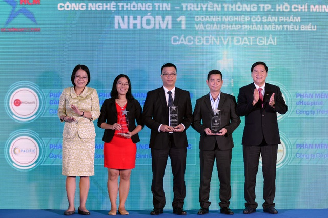 Đại diện Sở TT&TT trao giải cho các nhóm đoạt giải